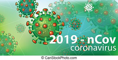símbolo, plano de fondo, coronavirus