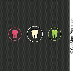 símbolo, plano de fondo, diente