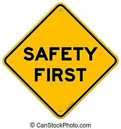 símbolo, seguridad primero