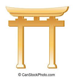 símbolo, shinto