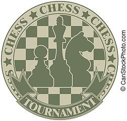 símbolo, torneo, ajedrez