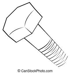 símbolo, tornillo