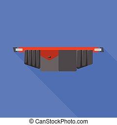 símbolo., vector, diseño gráfico, illustration., cinturón, herramienta, toolbag, acción