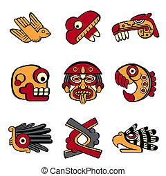 símbolos, azteca