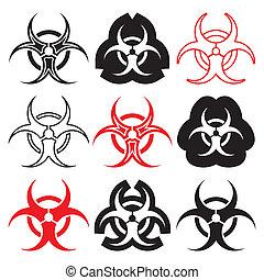 símbolos, biohazard