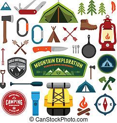 símbolos, campamento
