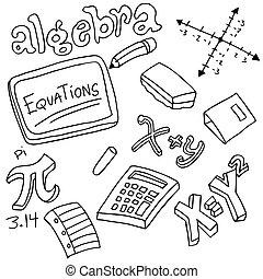 Símbolos de álgebra y objetos