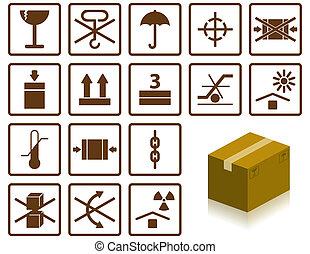 símbolos, embalaje