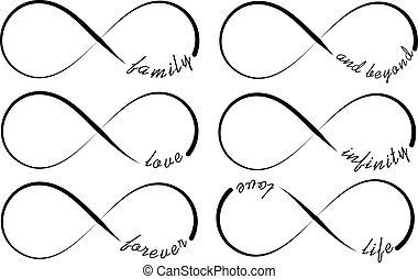 símbolos, infinito