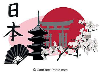 símbolos, japonés