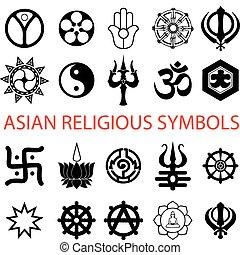 símbolos, religioso, vario