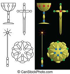 símbolos, tarjeta del tarot