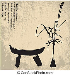 símbolos, zen, silueta