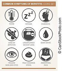 Síntomas de hepatitis. Icono Vector listo