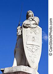 s., riga, roland, estatua