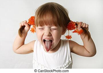 Sacando la lengua