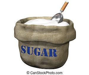 saco, azúcar