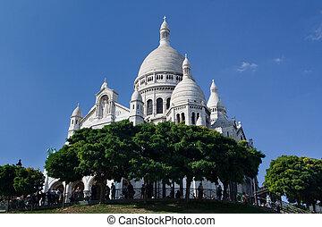 Sacre coeur - famosa catedral en París, Francia