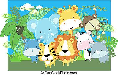 Safari para bebés del vector