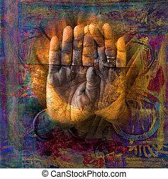 sagrado, manos