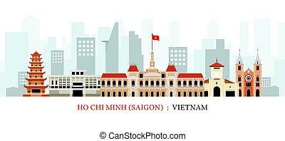 Saigón o ho chi minh ciudad, vietnam hitline