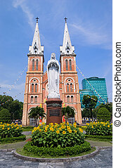 saigon, vietnam, maría, catedral, c/