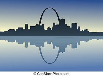 Saint Louis en el centro del río