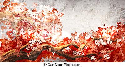 Sakura Branch está floreciendo