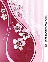 Sakura en la onda de diseño