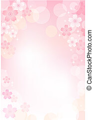 sakura, flor, plano de fondo, cereza