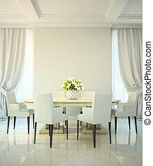 Salón de cena en estilo clásico