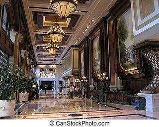 Salón de hotel de lujo