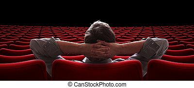 Salón vacío con VIP sentado en una ilustración 3D
