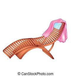 Salón Wooden Chaise