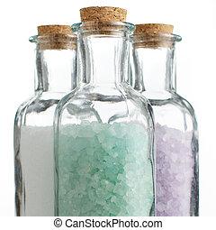 Sal de baño de color
