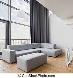 sala, contemporáneo, sofá