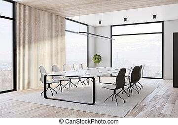 sala de conferencias, grande, espacioso, tabla