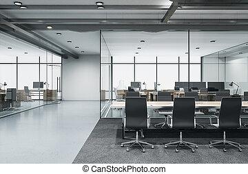 sala de conferencias, tabla, contemporáneo, reunión