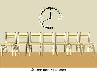 sala de espera, simple