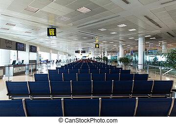 Sala de espera terminal del aeropuerto