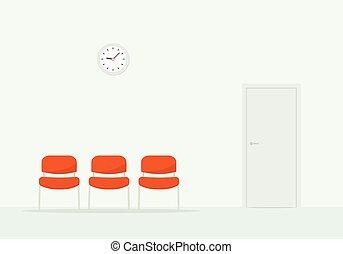 Sala de espera. Una imagen simple