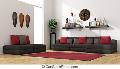 Sala de estar contemporánea