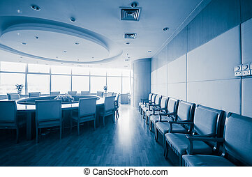 Sala de juntas de interiores moderna