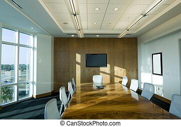 Sala de juntas en el edificio de oficinas