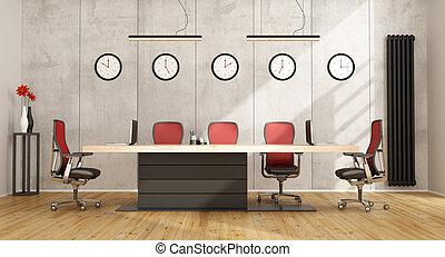 Sala de juntas miniatura con muebles modernos