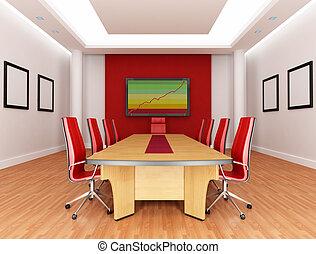 Sala de juntas rojas