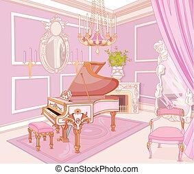 Sala de música de princesas
