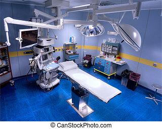 sala de operaciones, sobre, vista