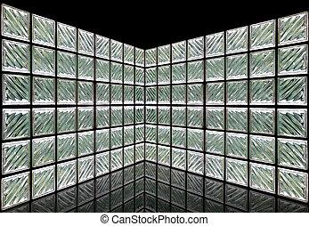 Sala de pared de vidrio