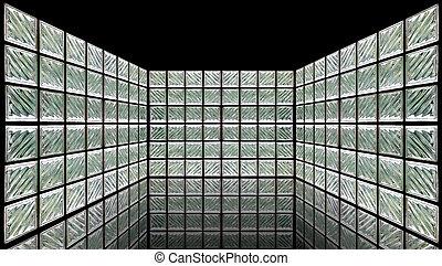 Sala de paredes de cristal